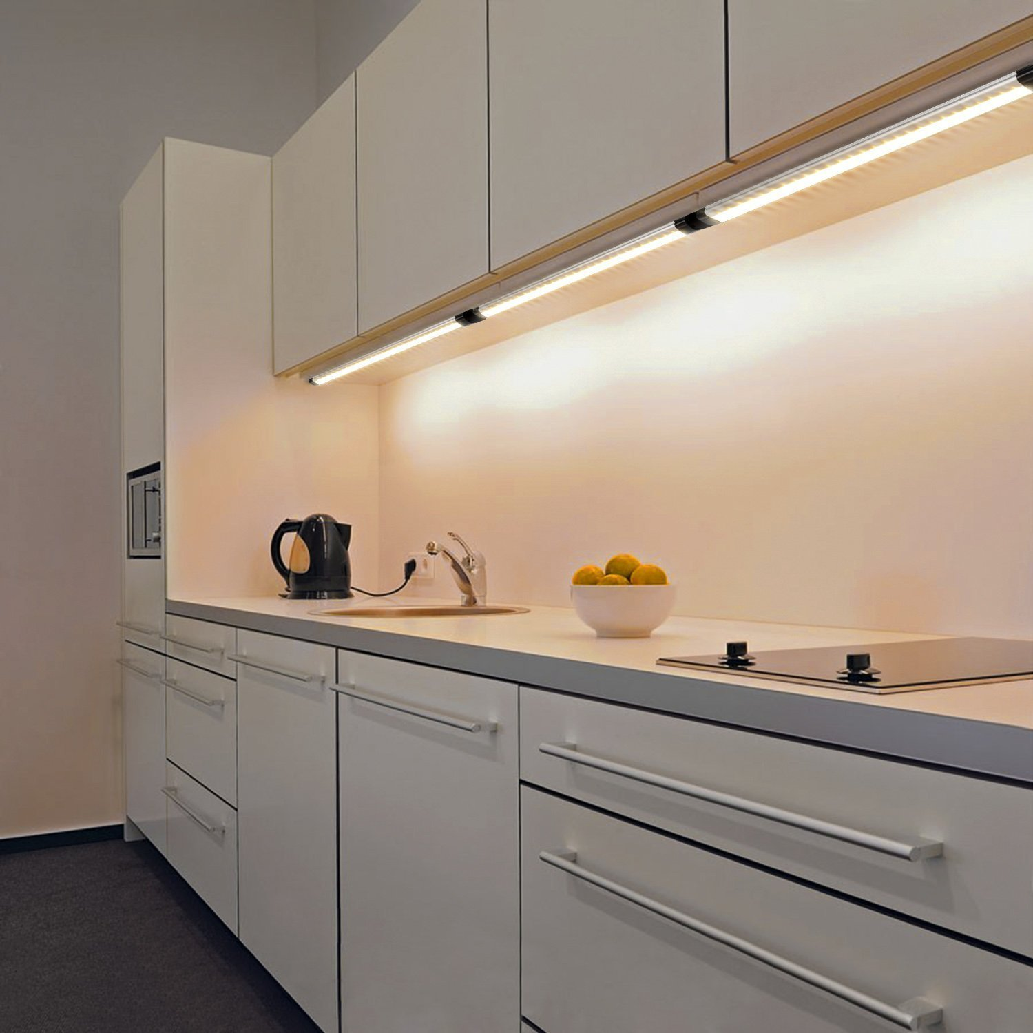 Kitchen Lighting Ideas India: Dimmable Under Cabinet Lightning